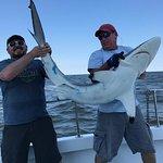6 foot black tip shark caught on the Lucky Strike charter