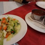 Salad and dhai served with all meals