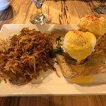 Crab cake eggs Benedict & Vermont Bloody Mary.