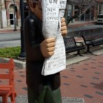 street art with newspaper