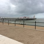A veiw of the pier from the side, it looks bigger here than it actually is.