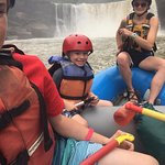 rafting - Cumberland falls in the background
