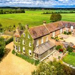 Aerial view of  Bowers Hill Farm B&B near Broadway in the Cotswolds