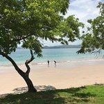 Beach at the resort.