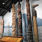 Totems inside the visitors center
