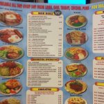 Part of their large menu