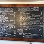 Here is the menu from the Picnic Basket in Santa Cruz