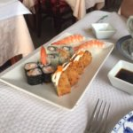 Various sushi ordered off sushi menu.