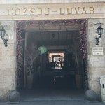 Entrance on one end of the Gozsdu Udvar