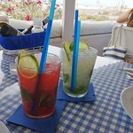 strawberry and mint mojitos
