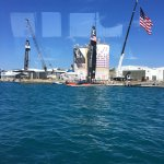 We were lucky to be docked at the Royal Naval Dockyard in time to see some of the America's Cup.