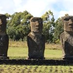 Three of the moais at Ahu Akivi