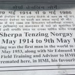 Tenzing Norgey cremated place