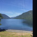 This is the view from our lodge room through the screen.