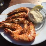 Great seafood, lovely staff, outstanding location in the Maas river!