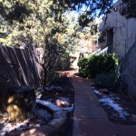 The pathway to get to our room - even in winter with snow it was quaint and beautiful