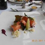 Starter: Roulade of Scottish smoked salmon