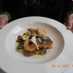 Main: Assiette of seafood