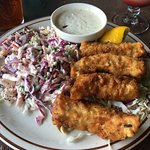 Fish and chips(substituted coleslaw)