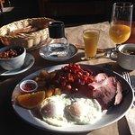 petit déjeuner de l'ogre + jus d'orange