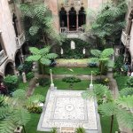 beautiful courtyard in the middle of the museum