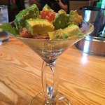 Onion rings should not be missed Nor the tuna avocado martini appetizer
