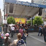 Salsa in front of P&G music stage during Cinco De Mayo