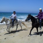Husband riding Blue & myself on Prince