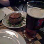 Tasty beer and baked potato
