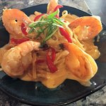 Coconut Curry Prawns with Linguine