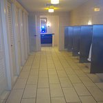 Clean, spacious public washroom (going out)