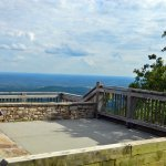 The viewing deck at the top of Pilot Mountain