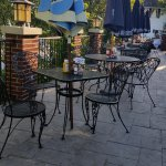 Enjoy dining on the outdoor patio at Hackney's on Lake.