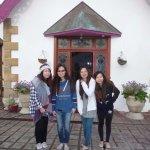 Four travelling Hong Kong Girls