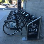 You can rent bikes right outside!