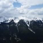 View from top of Sulphur Mountain Banff after gondola ride.