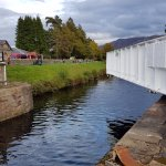 Caledonian Canal main road bridge moving out of the way
