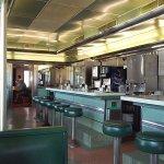 Dean's Diner, stainless steel, jade green, Fedoro diner, 1953