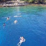Snorkelling at the bay near the Captain Cook Monument