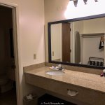 Huge mirror in sink area