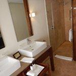 Bathroom was very modern