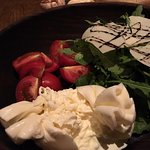 Nice burrata and cherry tomato, very salty rockets.