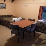 comfortable room with ample space for a family or small group