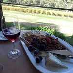 Platter and wine at Longview Wines, Macclesfield.