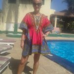 My African dress my stepson bought me has a leaving present i love it so much