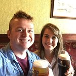 Jordan and I at the first stop on the Traditional Irish Pub Crawl!