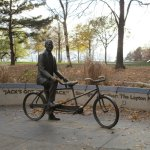 Jack Layton memorial by the ferry terminal.