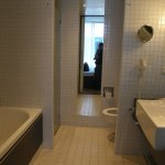 The bathroom - sliding door!