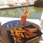 """A """"snack"""" ordered at the poolside bar is a meal."""