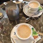 Coffee and tea pool side.